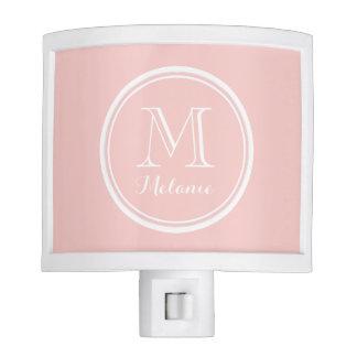 Pale Pink High End Colored Monogram Nite Lights