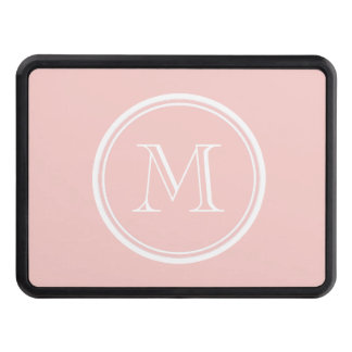 Pale Pink High End Colored Monogram Trailer Hitch Cover