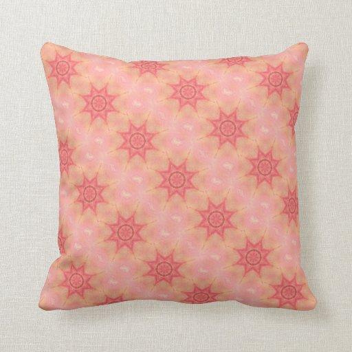 pale pink kaleidoscope modern throw pillow zazzle. Black Bedroom Furniture Sets. Home Design Ideas
