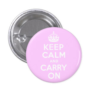 Pale Pink Keep Calm and Carry On Button