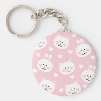 pale pink,kittens,cute,girly,kauai,trendy,hearts keychain