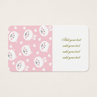 pale pink,kittens,cute,girly,kauai,trendy,hearts,w business card