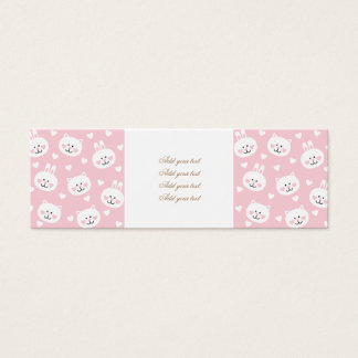 Kauai business cards templates zazzle pale pinkkittenscutegirlykauaitrendyheartsw reheart Image collections