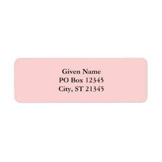 Pale Pink Custom Return Address Label