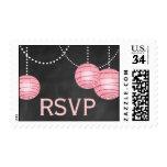 Pale Pink Lanterns on Chalk RSVP Stamp