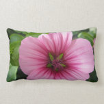 Pale Pink Lavatera Throw Pillow