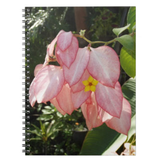Pale Pink Leaves Yellow Flower Mexico Notebook