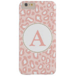 Pale Pink Leopard Monogram iPhone 6 Plus Case