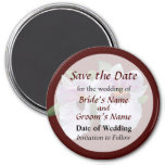 Pale Pink Orchid Save the Date Fridge Magnets