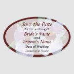 Pale Pink Orchid Save the Date Oval Sticker