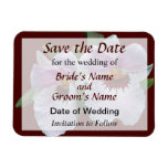 Pale Pink Orchid Save the Date Rectangle Magnet