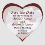 Pale Pink Orchid Save the Date Stickers