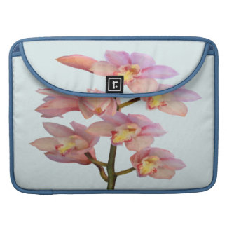 Pale Pink Orchids Sleeve For MacBooks