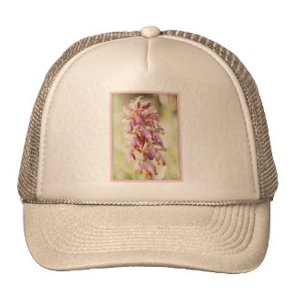 Pale pink orchids trucker hat