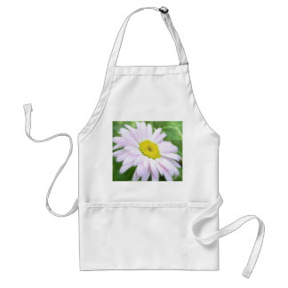 Pale Pink Painted Daisy Adult Apron