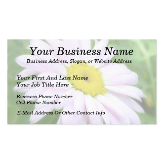 Pale Pink Painted Daisy Business Card