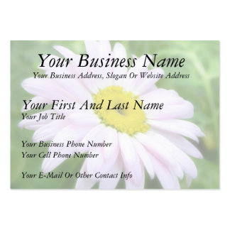 Pale Pink Painted Daisy Large Business Card