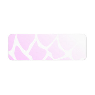 Pale Pink Pattern. Label