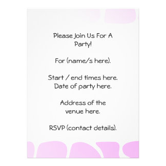 Pale Pink Pattern. Personalized Invites