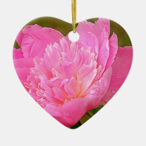 Pale Pink Peony Ornaments
