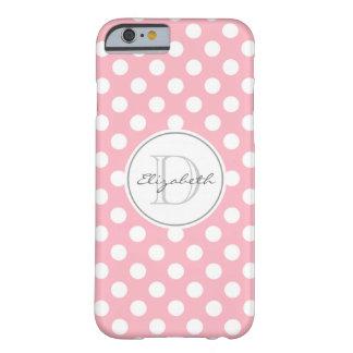 Pale Pink Polka Dot Monogrammed iPhone 6 Case