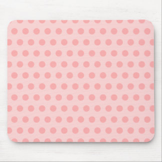 Pale Pink Polka Dots Mouse Pad