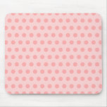 Pale Pink Polka Dots Mousepads