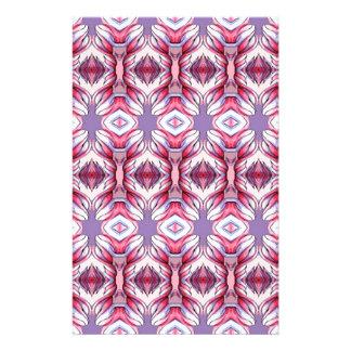 pale pink purple pattern customized stationery
