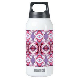 pale pink purple pattern thermos water bottle