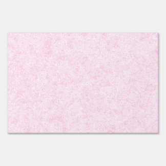 Pale Pink Random Background Pattern. Yard Signs