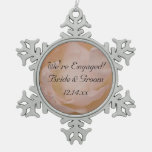 Pale Pink Rose Engagement Ornament