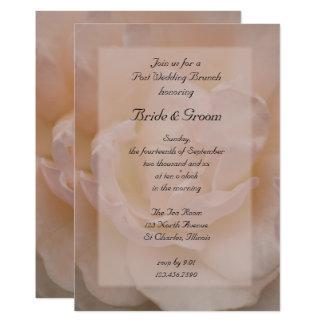 Pale Pink Rose Floral Post Wedding Brunch Invite