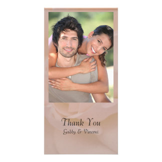Pale Pink Rose Floral Thank You Card