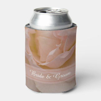 Pale Pink Rose Floral Wedding Favors Can Cooler