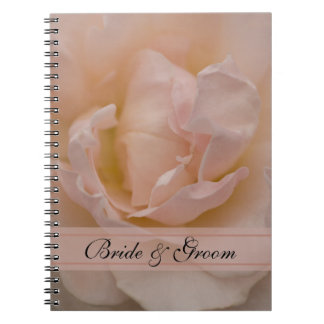 Pale Pink Rose Floral Wedding Notebook