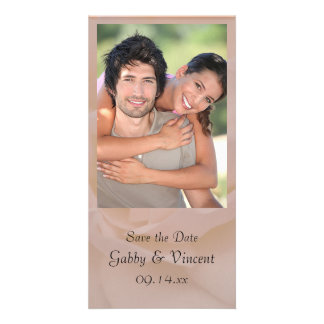Pale Pink Rose Floral Wedding Save the Date Card