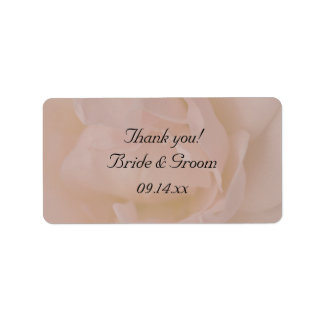 Pale Pink Rose Floral Wedding Thank You Favor Tag Label
