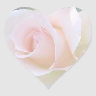 pale pink rose heart sticker
