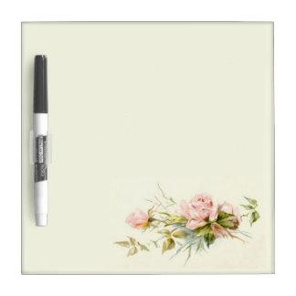 Pale pink rose on ivory marker board