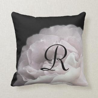 Pale Pink Rose Petals Monogram 16