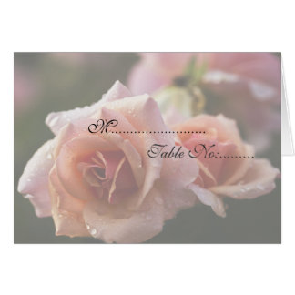Pale Pink Rose Place Setting Card
