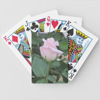 Pale Pink Rose Playing Cards