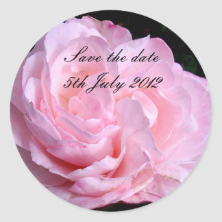 Pale Pink Rose Save the date sticker