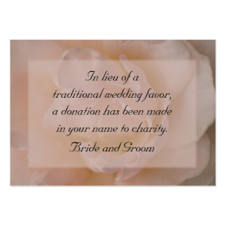 Pale Pink Rose Wedding Charity Card Business Card Templates