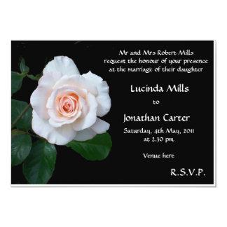 Pale Pink Rose Wedding Invitation