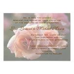 "Pale Pink Rose Wedding Invitation Card 5"" X 7"" Invitation Card"