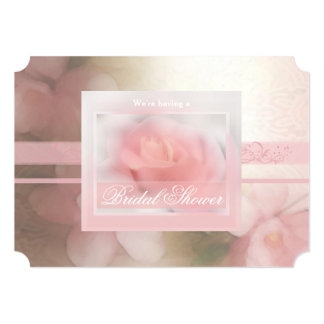 Pale Pink Rose with Orchids n Lace 2 Card