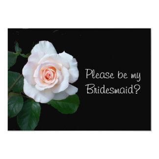 Pale Pink Rosebud Bridesmaid Request Card