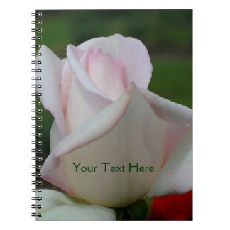 Pale Pink Rosebud Flower Nature Notebook