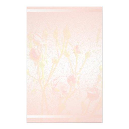 Pale Pink Rosebuds Stationery